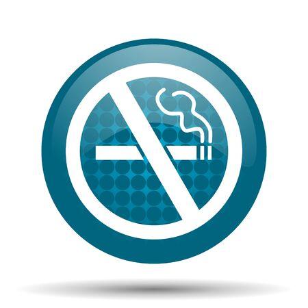 no smoking blue glossy web icon photo
