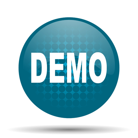 icono web: Demo icono azul brillante Web