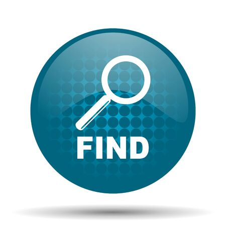 to find: find blue glossy web icon Stock Photo