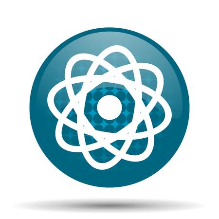 atom blue glossy web icon photo