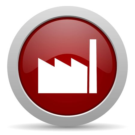industrialist: factory red glossy web icon