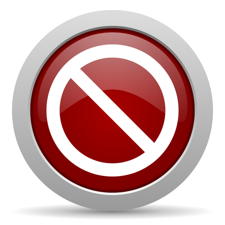 web access: access denied red glossy web icon Stock Photo