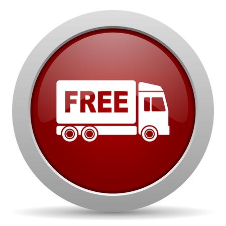d�livrance: livraison gratuite ic�ne rouge web glac�