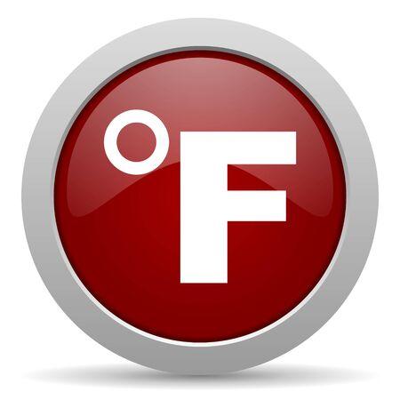 fahrenheit: fahrenheit icono rojo brillante Web
