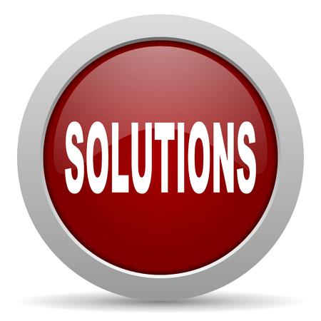icono web: soluciones icono rojo brillante Web