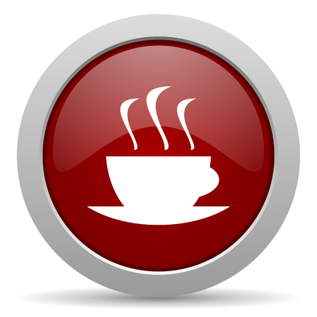 espresso red glossy web icon photo
