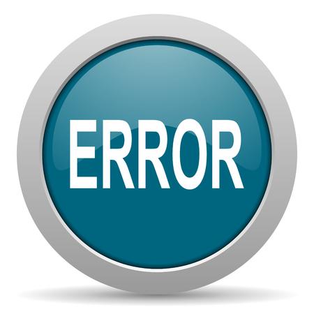 error blue glossy web icon photo