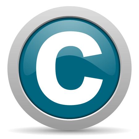 copyright: copyright blue glossy web icon