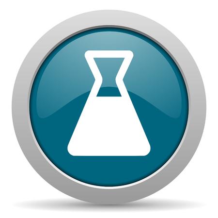 laboratory blue glossy web icon photo