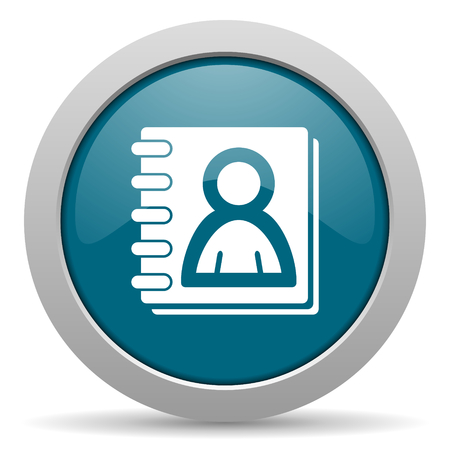 address book: address book blue glossy web icon Stock Photo
