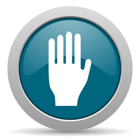 coachman: stop blue glossy web icon