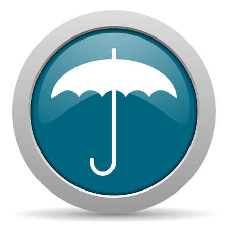 umbrella blue glossy web icon photo