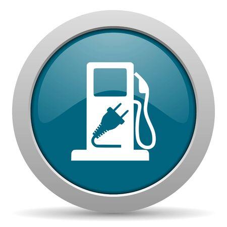 fuel blue glossy web icon photo