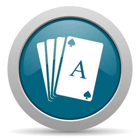 picto: card blue glossy web icon