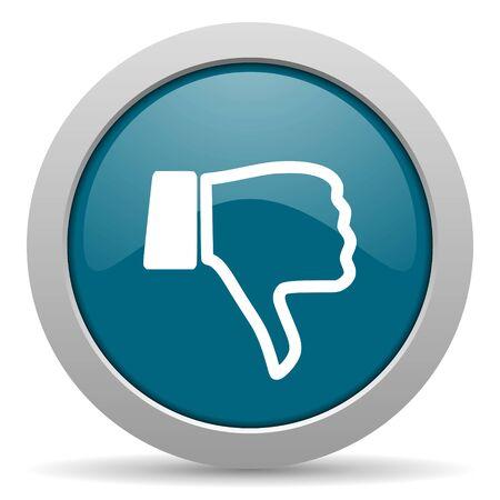 thumb keys: dislike blue glossy web icon
