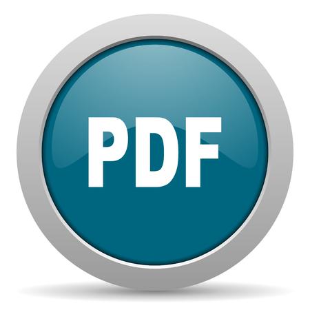 pdf: pdf blue glossy web icon