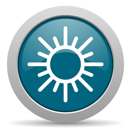 sun blue glossy web icon photo