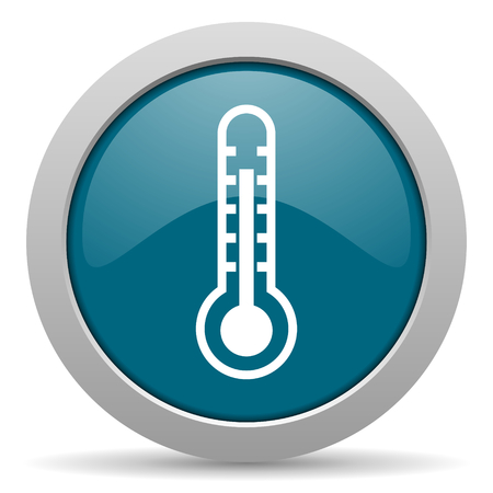 thermometer blue glossy web icon photo