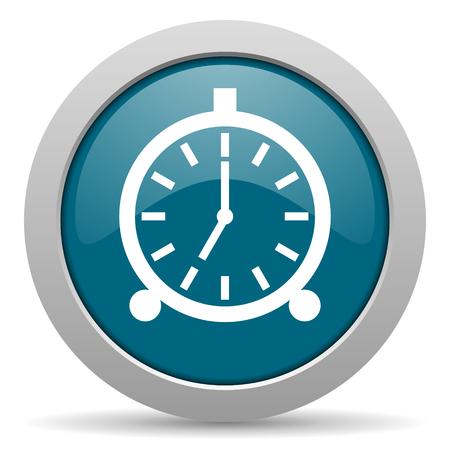 alarm blue glossy web icon photo
