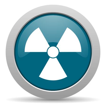 radiacion: icono azul brillante Web radiación