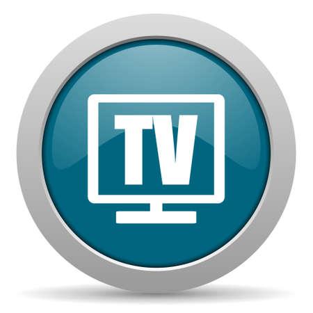 programm: tv blue glossy web icon