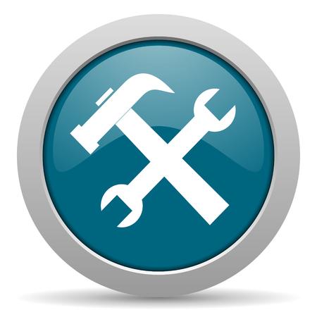 option key: tool blue glossy web icon