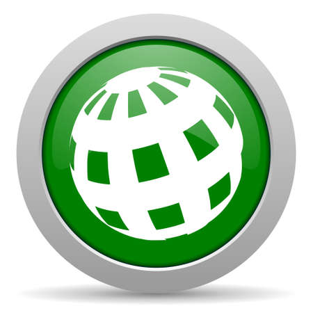 parallels: earth green glossy web icon