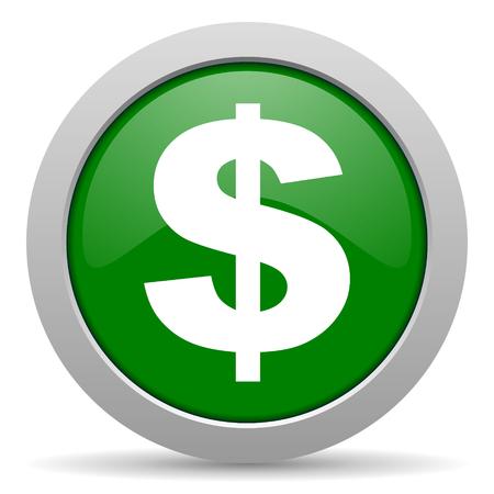 dollar green glossy web icon photo