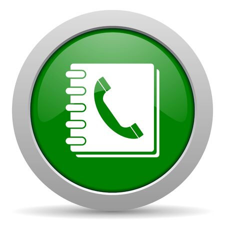phonebook: phonebook green glossy web icon