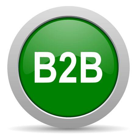 b2b: b2b icono web brillante