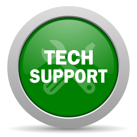 technical support: technical support green glossy web icon