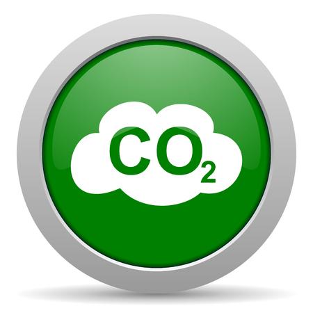 dioxido de carbono: el di�xido de carbono icono web brillante Foto de archivo