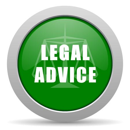 asesoria legal: asesoramiento jur�dico icono web brillante Foto de archivo