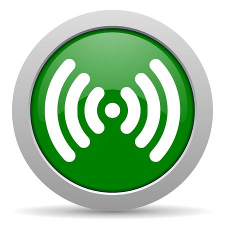 wifi green glossy web icon photo