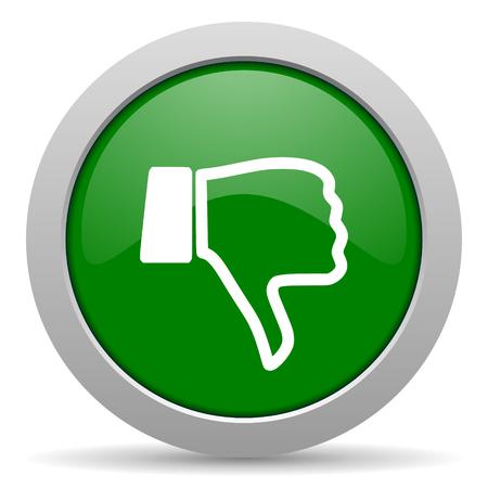 thumb keys: dislike green glossy web icon