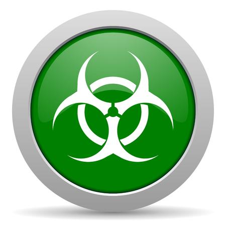 varez: biohazard green glossy web icon Stock Photo