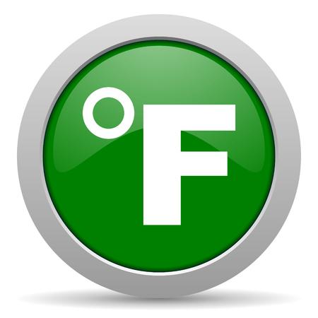 fahrenheit: fahrenheit icono web brillante Foto de archivo
