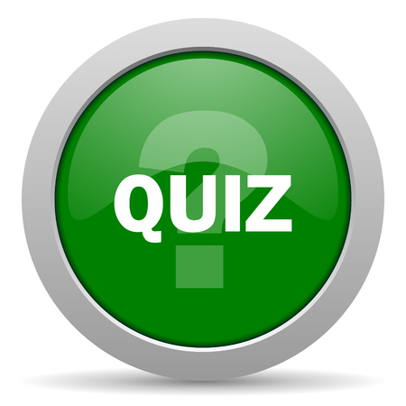 quiz: quiz green glossy web icon