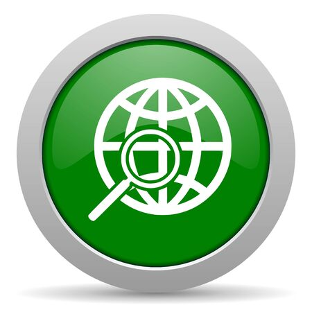 search green glossy web icon photo