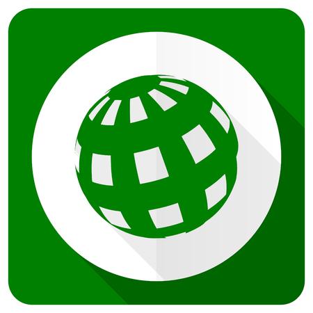 meridians: earth flat icon Stock Photo