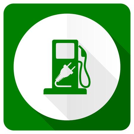 hybrid: fuel flat icon hybrid fuel sign