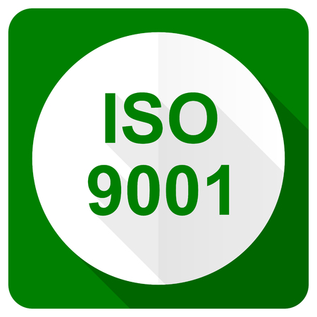din: iso 9001 flat icon