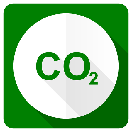 carbon dioxide: carbon dioxide flat icon co2 sign Stock Photo