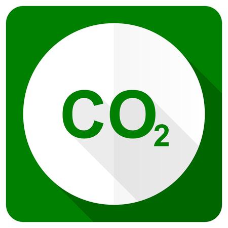 dioxido de carbono: di�xido de carbono icono plana signo co2