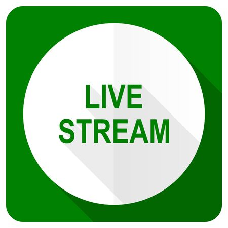 livestream: live stream flat icon Stock Photo