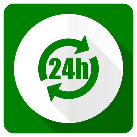 24h: 24h flat icon Stock Photo