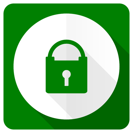 trusty: padlock flat icon secure sign