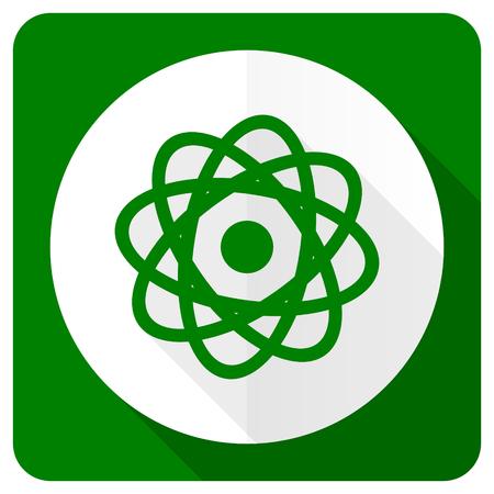 gamma radiation: atom flat icon