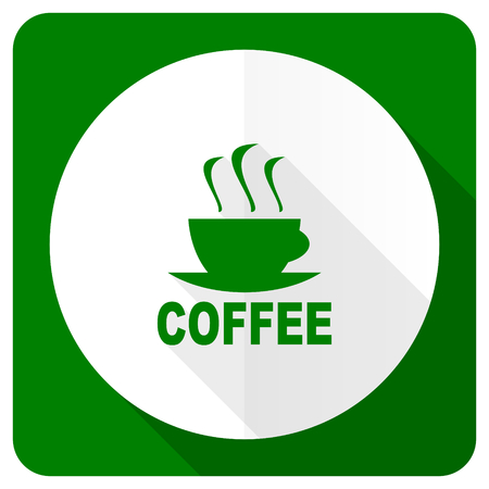 caffee: espresso flat icon hot cup of caffee sign Stock Photo