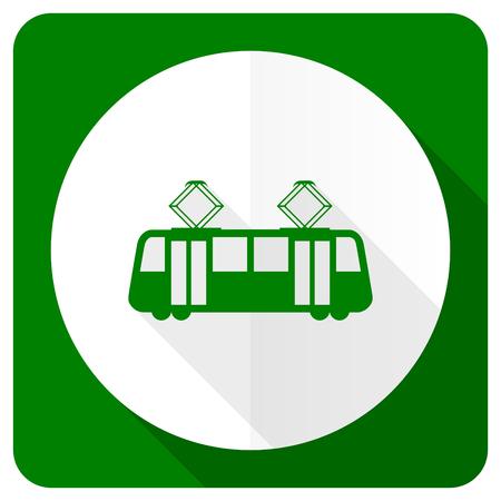 tram flat icon public transport sign photo